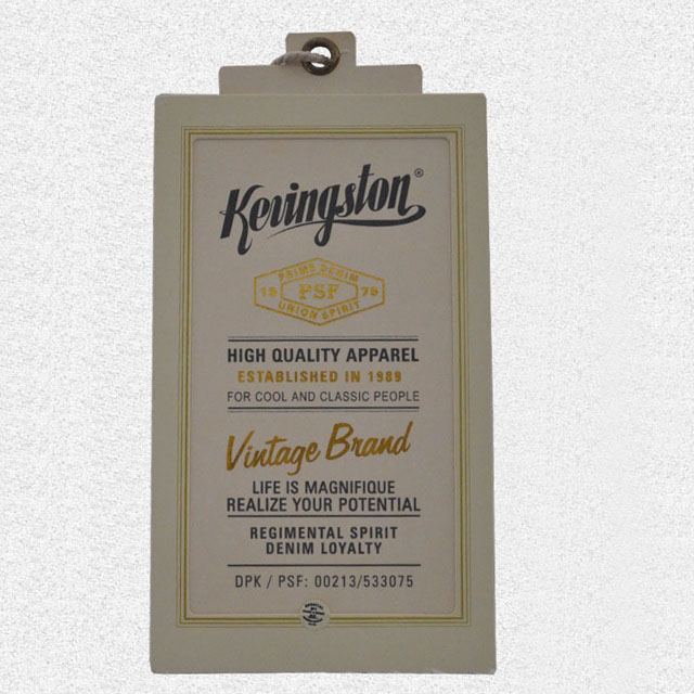 Irregular shape rich color cardboard hangtag QD-HT-0012